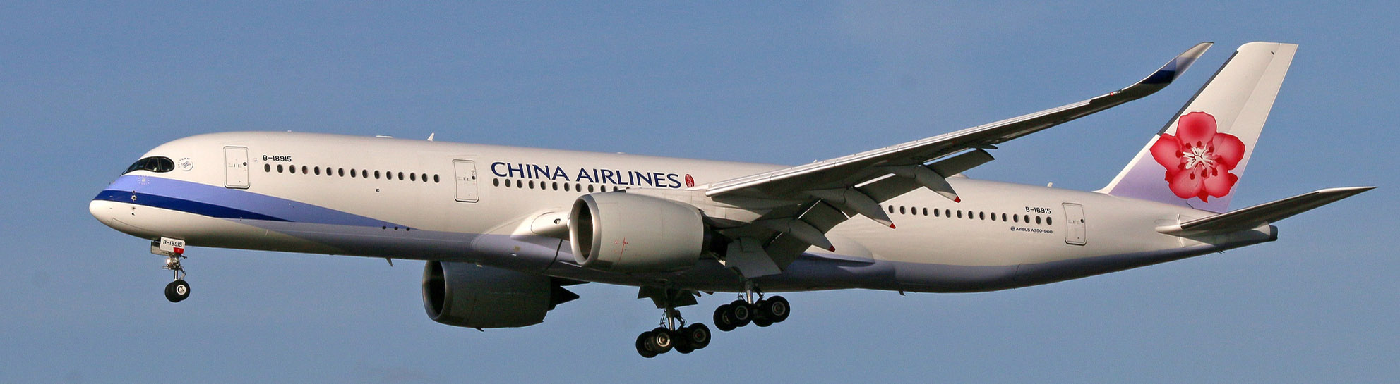 China Airlines A350-900 on final approach