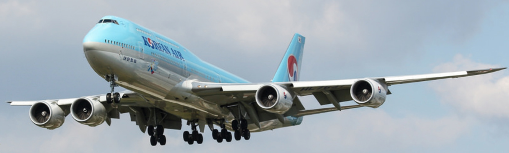Korean Air Boeing 747-8i Intercontinental on Final Approach