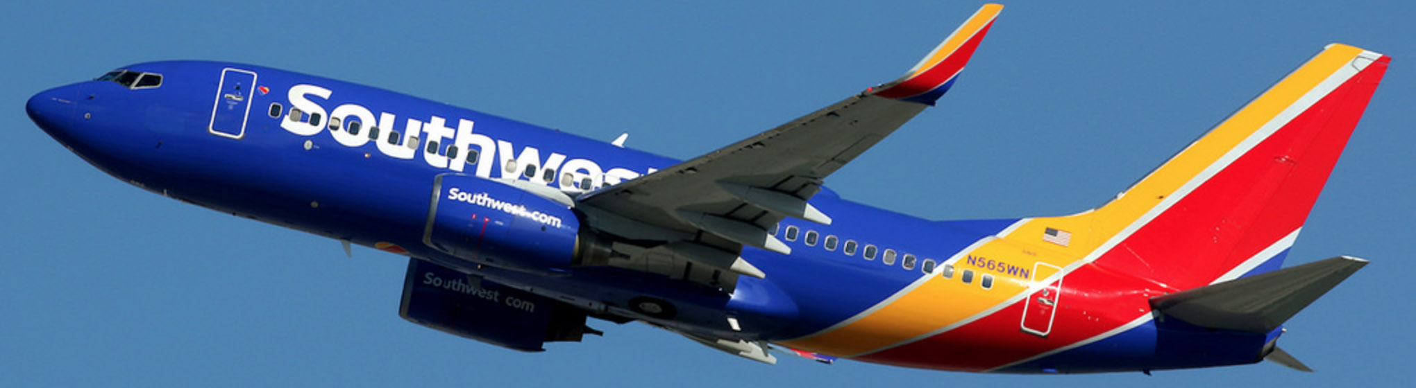 Southwest Airlines B737-700 climbing out