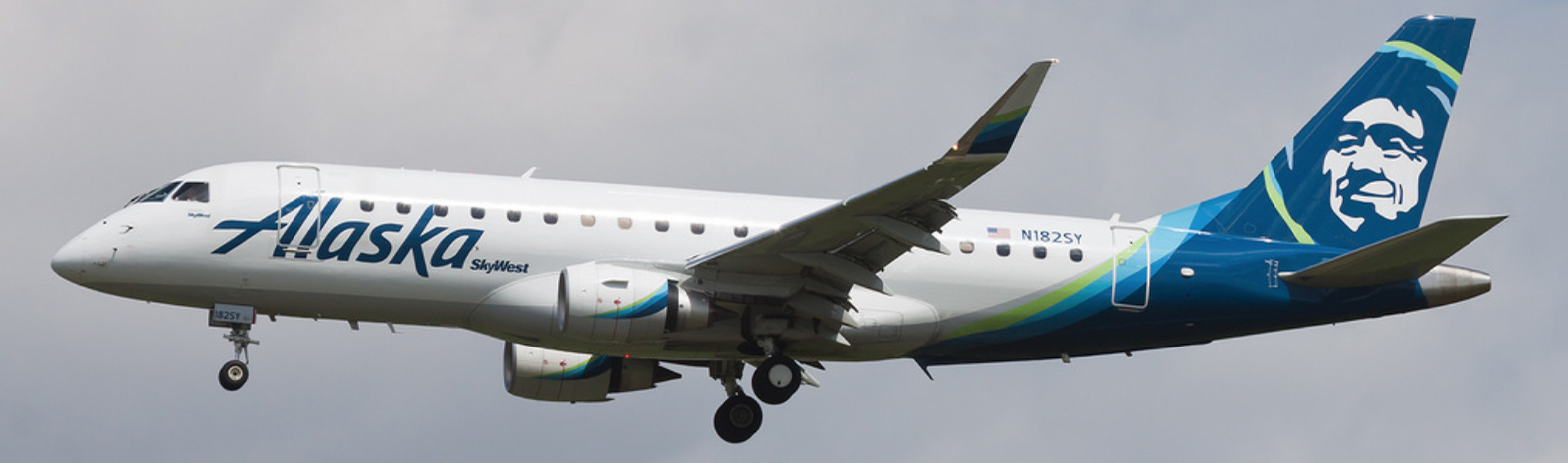 Skywest E175 in Alaska Airlines livery