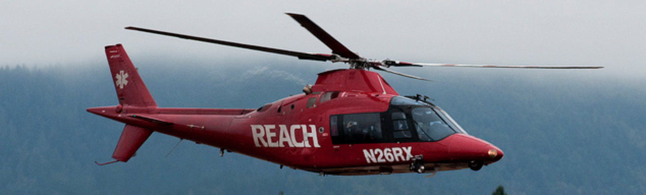 REACH Air Agusta A109 Medevac Helicopter