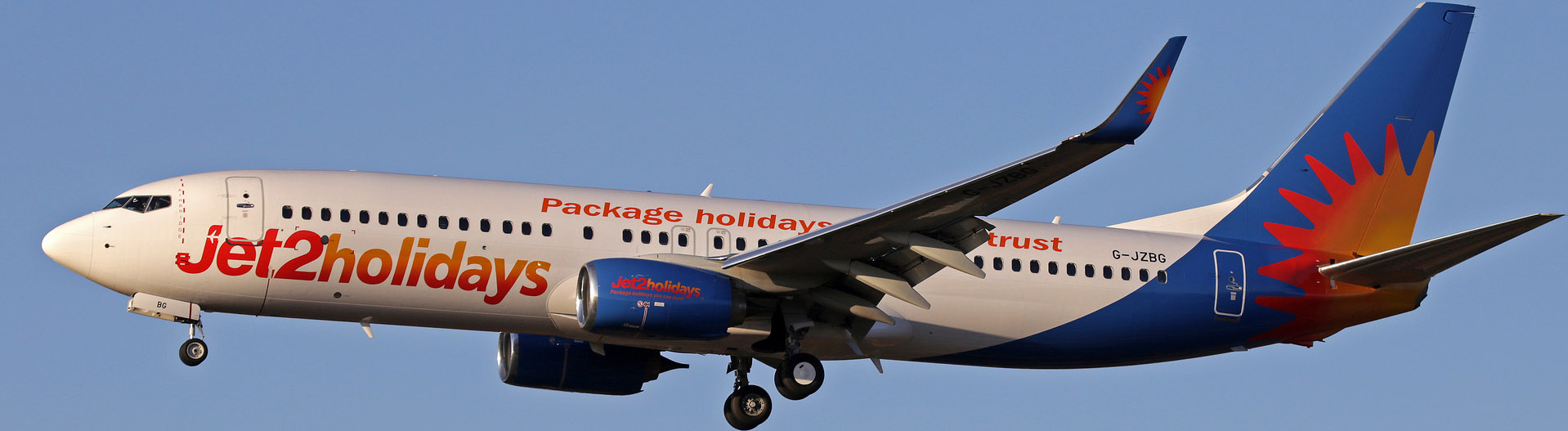 Jet2.com Boeing 737-800NG on Final Approach.