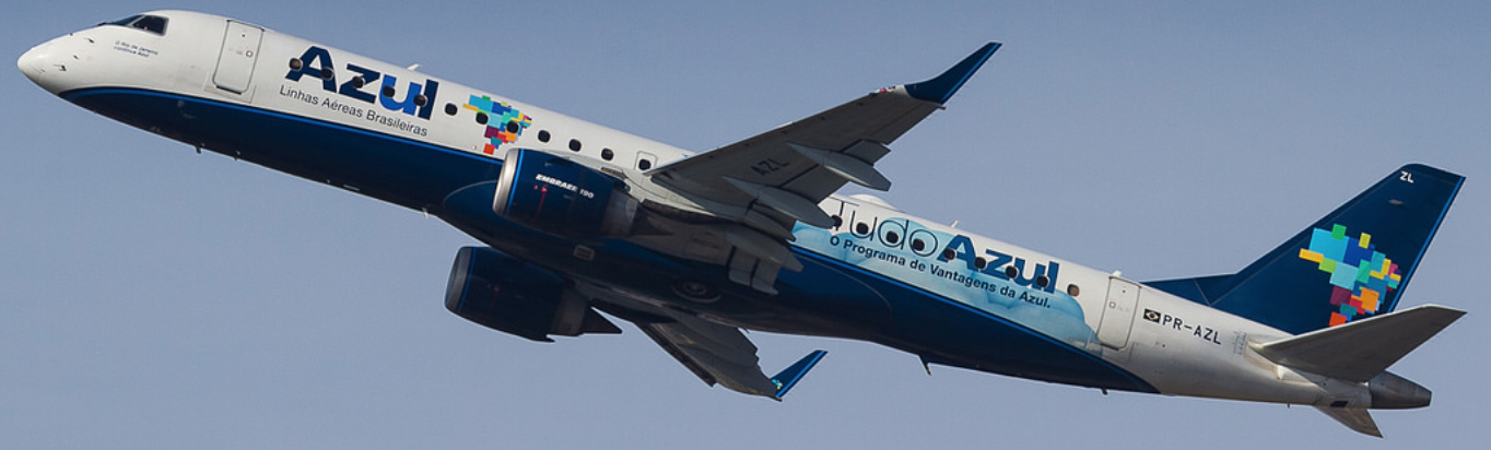 Azul Embraer E190 during climbout.
