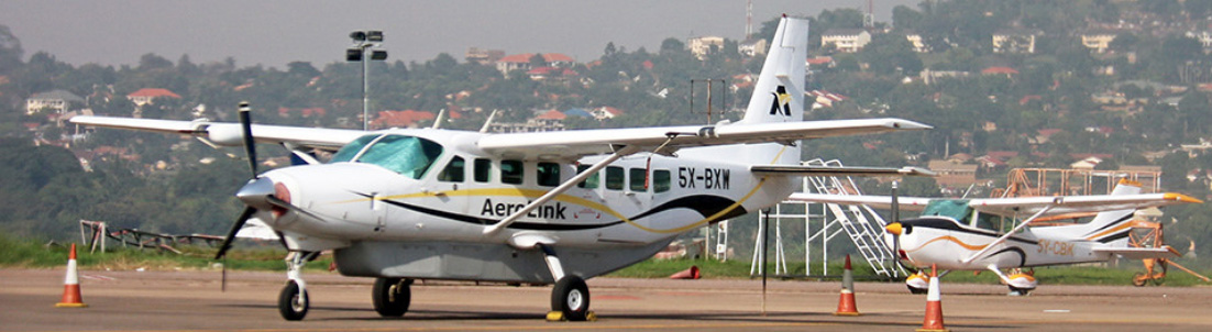 Aerolink Uganda Cessna Caravan on the ramp.
