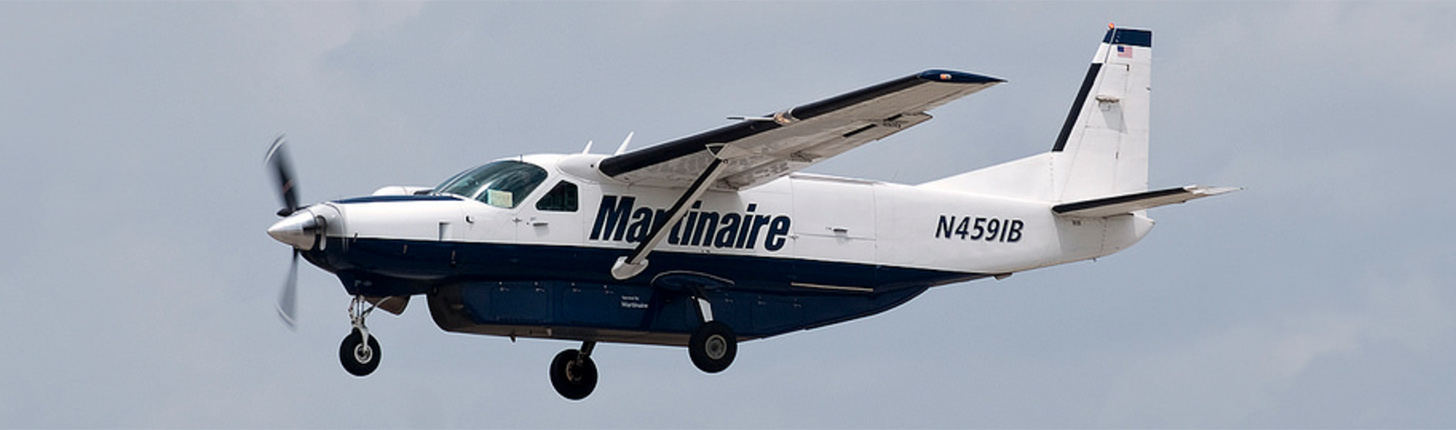 Martinaire Cessna Cargo-Master on approach