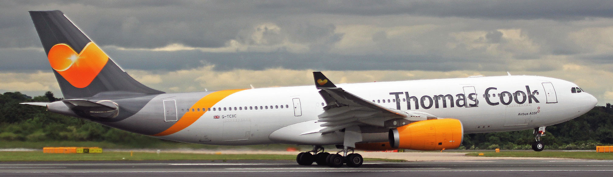 Thomas Cook Airbus A330 on take off rotation