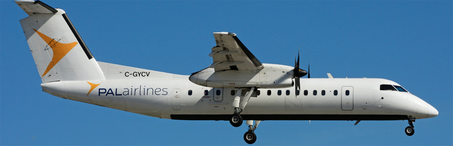 Provincial Dash 8-300 on Final Approach