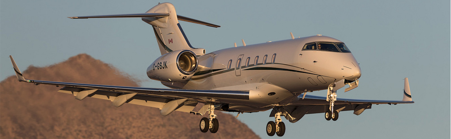 Challenger 300 on Final Approach in Arizona.