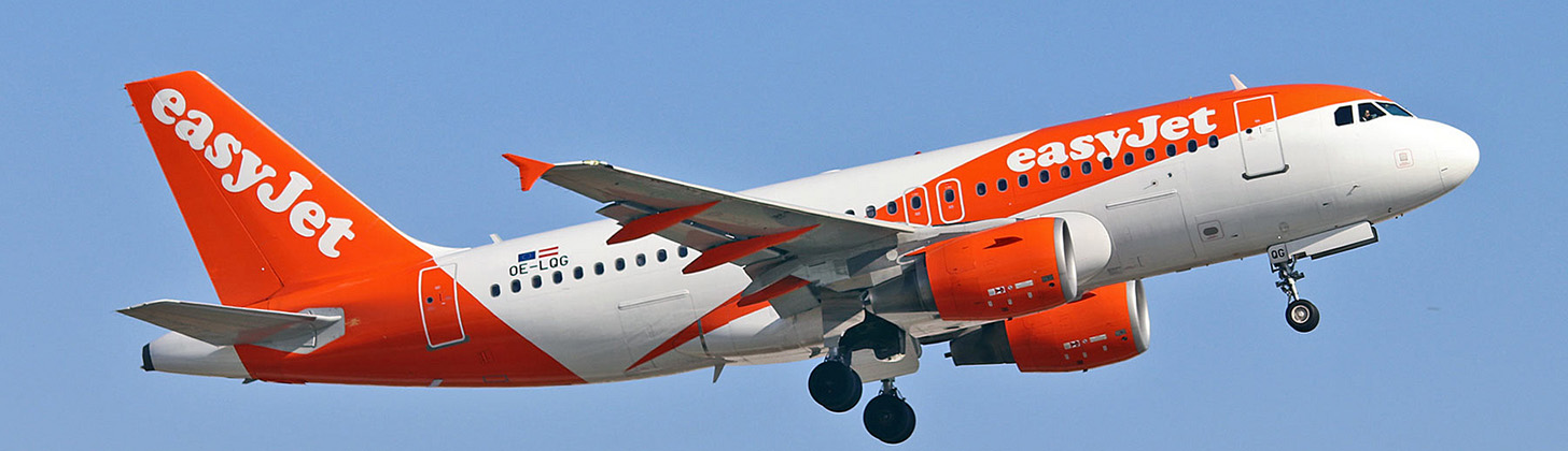 easyJet A319 on departure