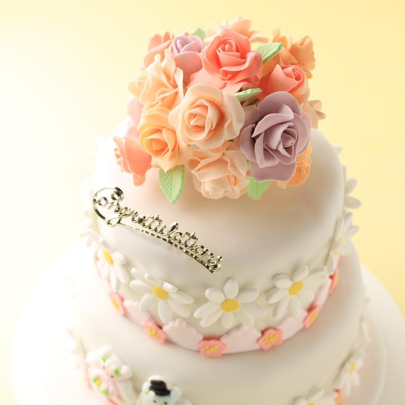 シュガークラフトのウエディングケーキ