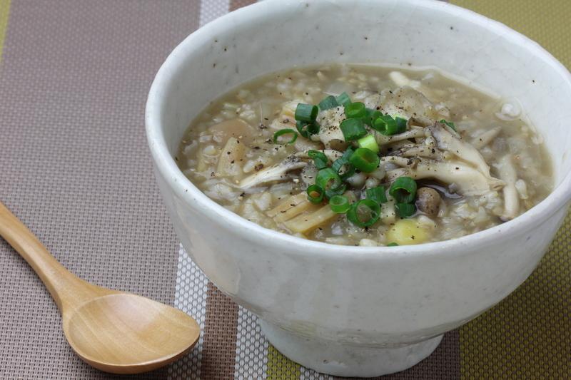 干し貝柱の中華風雑炊