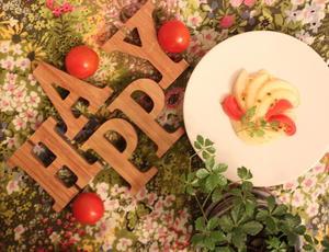 桃とフルーツトマトの冷製カッペリーニパスタ