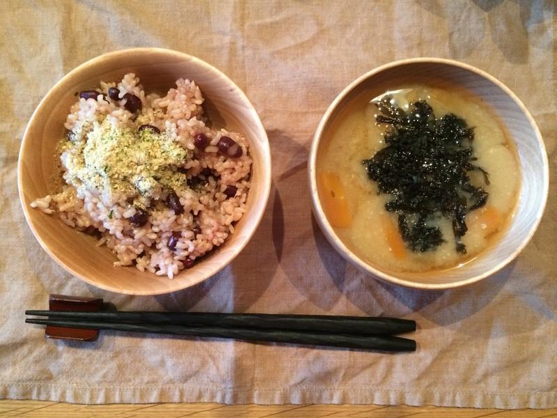 基本の玄米とお味噌汁