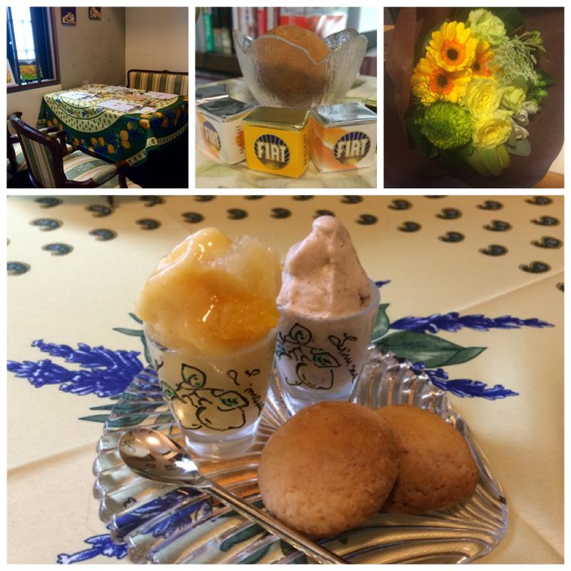 イタリアのドルチェ教室giglio(ジリオ)齋藤由里のお料理です。