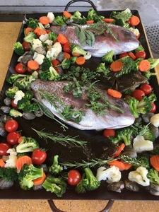 鯛とヒラメのアクアパッツァ