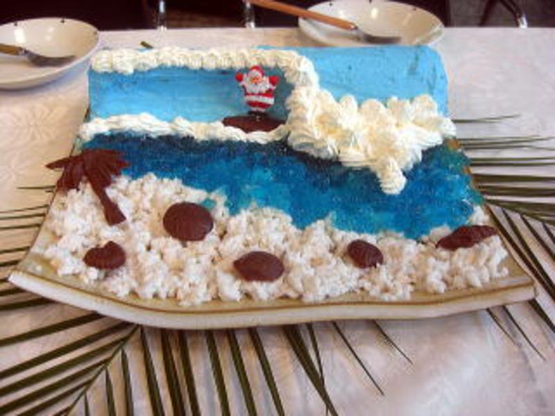 波乗りサンタのXマスケーキ