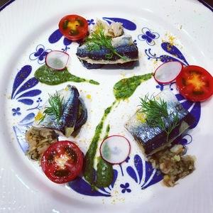 秋刀魚と秋茄子のミルフィーユ仕立て