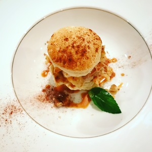 林檎と安納芋のパイ仕立て