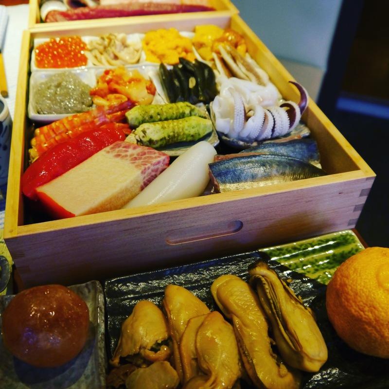 ある日のネタ箱  極上江戸前鮨パーティープラン