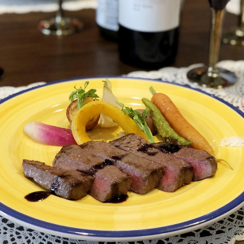 国産和牛のソテー 旬の鎌倉野菜添え