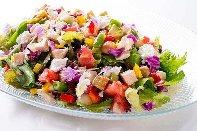 有機野菜のチョップドサラダ
