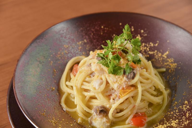 金目鯛とからすみのスパゲッティ