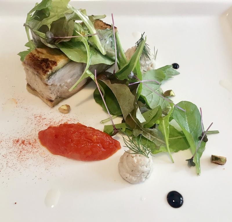 真鯖と茄子のテリーヌ サラダ仕立て
