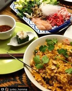 旬食材と生タイハーブを使ったおまかせタイ料理