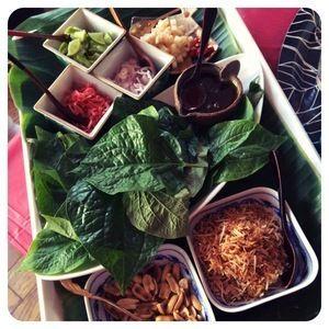 タイ料理でハーブ香るパーティーフード。