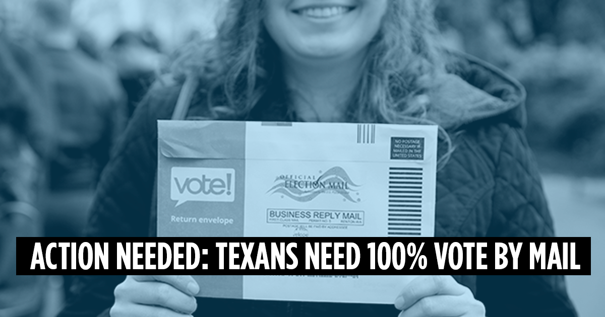 Petition: Texans deserve safe voting access for all future elections