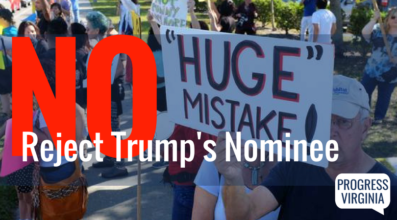 Tell Senators Warner and Kaine: No to Trump's SCOTUS nominee