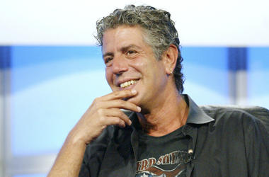 Anthony Bourdain attends the panel discussion for 'Anthony Bourdain: No Reservations' during the Discovery Networks' Travel Channel presentation at the 2005 Television Critics Association Summer Press Tour at the Beverly Hilton Hotel on July 16, 2005 in