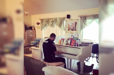 piano police officer