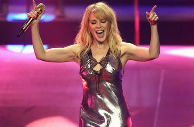 Kylie Minogue Performs on Stage