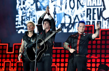 Green Day performs onstage during the 2017 Global Citizen Festival