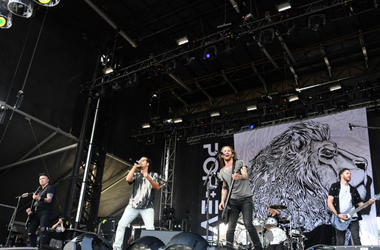 April 29, 2018 ; Sunrise, FL, USA; Pop Evil performs during Fort Rock at Markham Park.