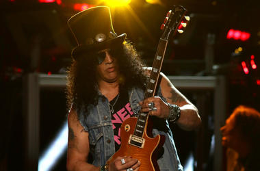 Slash performs in concert at Madison Square Garden in New York