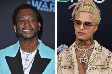 Gucci Mane at the 2017 BET Awards held at Microsoft Theater on June 25, 2017 in Los Angeles, CA, USA. / Lil Pump walking on the red carpet at the 2018 Billboard Music Awards held at The MGM Grand Garden Arena on May 20, 2018 in Las Vegas, NV.