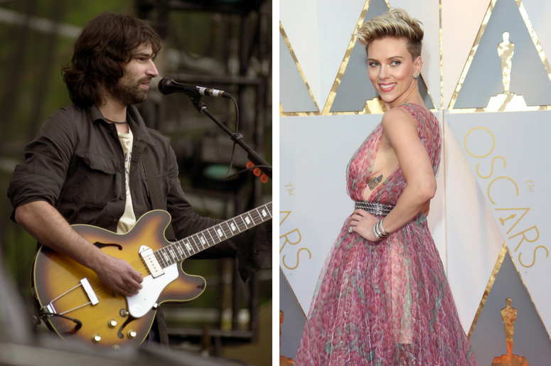 Peter Yorn performs at the Music Midtown festival May 4, 2002 in Atlanta / Scarlett Johansson on the red carpet during the 89th Academy Awards at Dolby Theatre