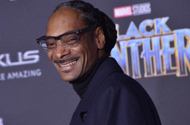 """Snoop Dogg arrives at the Marvel Studios' """"Black Panther"""" Los Angeles Premiere held at The Dolby Theatre in Hollywood, CA on Monday, January 29, 2018."""