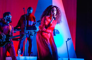 Singer-songwriter Solange Knowles performs onstage at Day For Night Festival on December 17, 2017 in Houston, Texas.