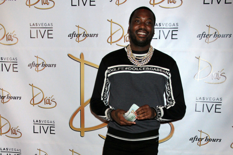 Meek Mill attends the launch of Exclusive Drai Live Concert Residency