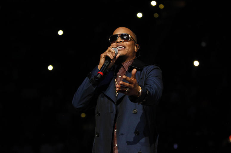 T.I. performs at halftime of a game between the Atlanta Hawks and Cleveland Cavaliers