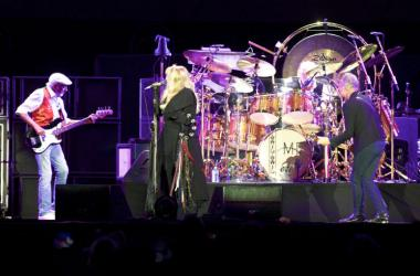Fleetwood Mac plays at the Classic West at Dodger Stadium in Los Angeles