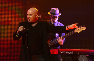 David Draiman performs at the 5th Annual Revolver Golden Gods Award Show