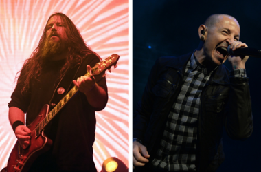 Mark Morton and Chester Bennington