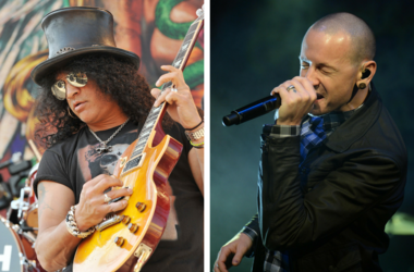 Slash and Chester Bennington