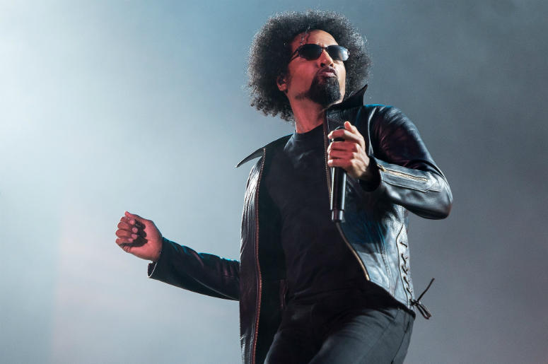 William DuVall of the band Alice in Chains performs on stage during a concert in the Rock in Rio Festival