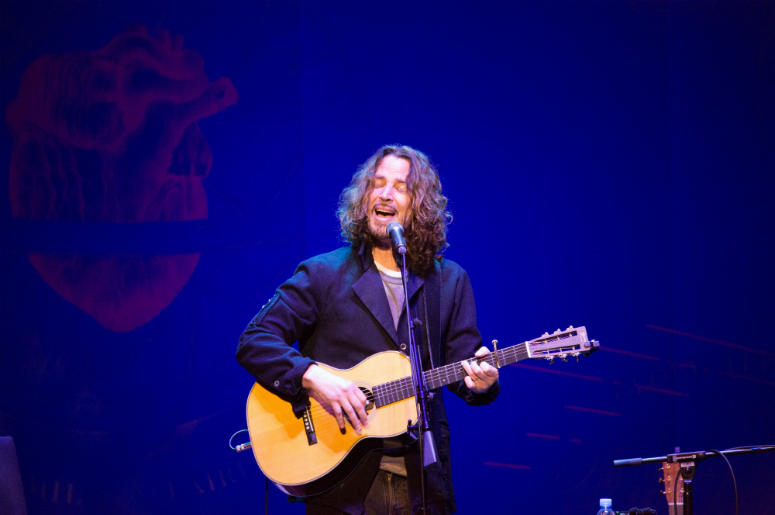 Chris Cornell performing live on stage at the Royal Albert Hall in London