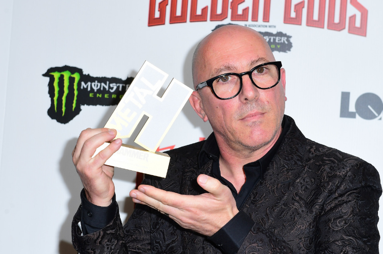 Maynard James Keenan wins the Icon award at the Metal Hammer Golden Gods Awards 2018
